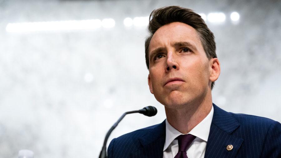 Sen. Josh Hawley Introduces Antitrust Bill to 'Bust Up' Big Tech Like Google and Amazon