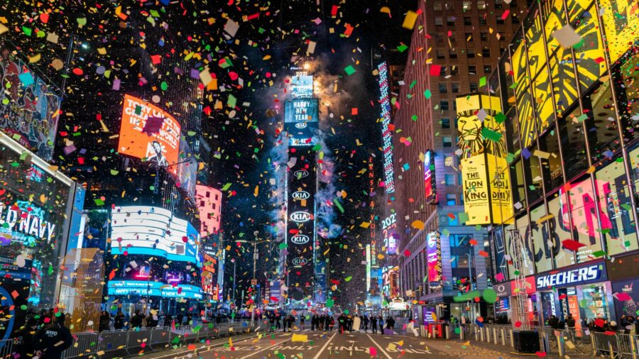 Pandemic-Style New Year's Eve Celebration in Times Square