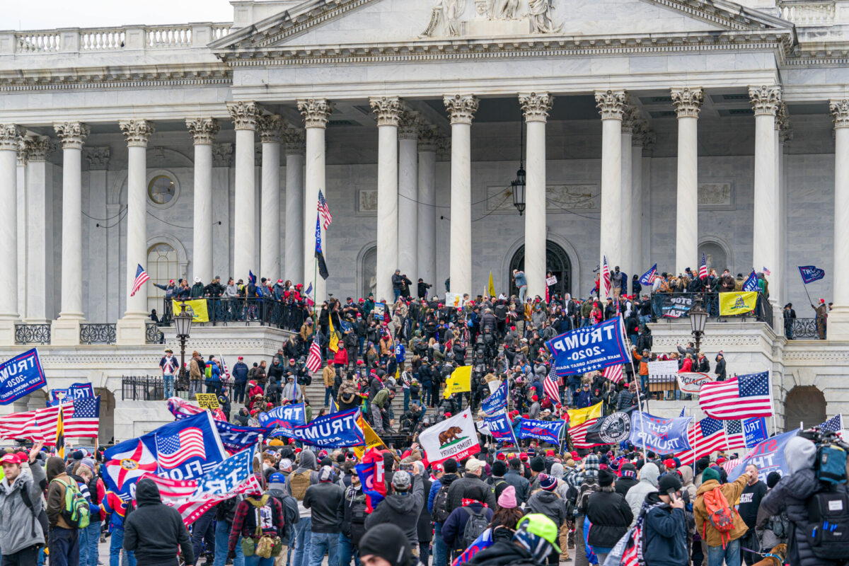 People gather on Capitol Hill