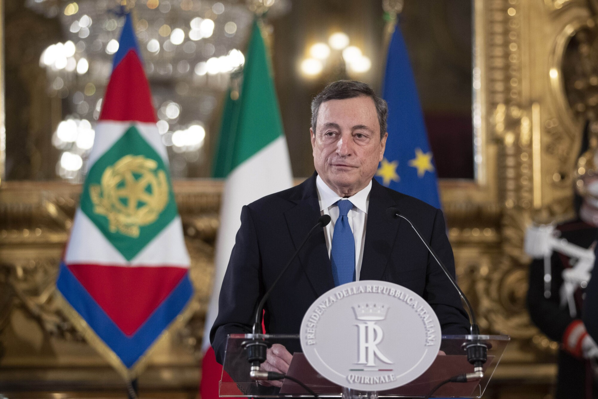 Italy's Draghi Wins Support of 2 Rival Parties for New Government