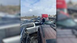 2 Injured in 30 Car Pile-Up Outside Billings