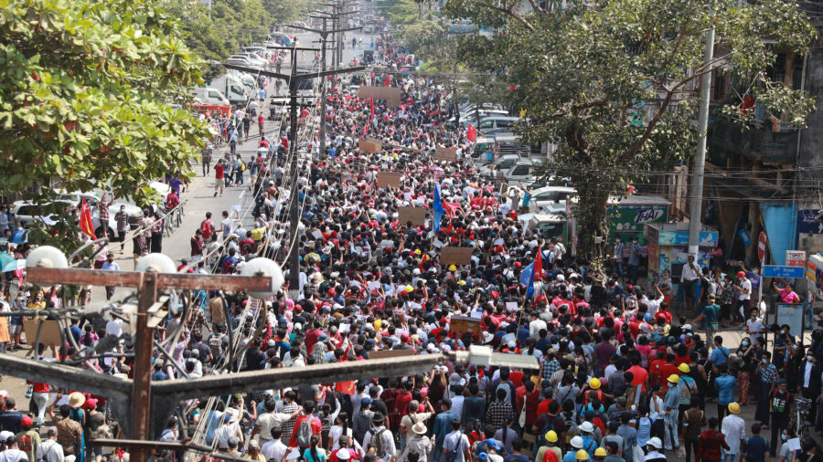 Internet Access Restored as Burma Coup Protests Grow
