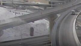 Driver Survives 70-foot Plunge Off Wisconsin Interchange