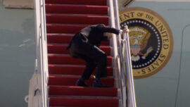 Biden Stumbles Up Stairs 3 Times, Is '100 Percent Fine'