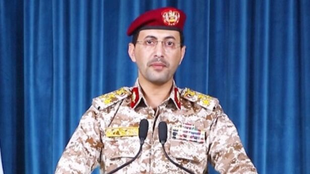 Houthi military spokesmen Yahya Sarea