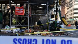 Car Crash Demolishes Outdoor Dining Area in New York City