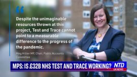 Committee: Impact of 37 Billion Pound Test-and-Trace System Is Unclear
