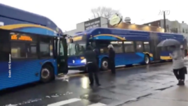 MTA Bus Drivers Clash, Leads to Traffic Jam