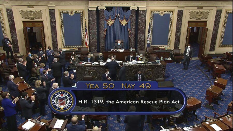 Senate Approves $1.9 Trillion COVID-19 Stimulus Package on Party-Line Vote