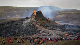 Icelandic Volcano Erupts Near the Capital