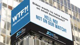 Times Square Billboard Slams Biden's Tax Plan