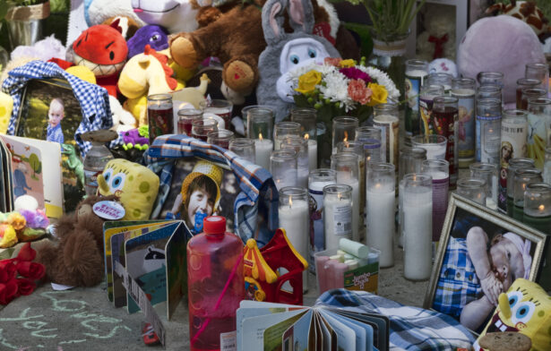 Memorial for three dead children