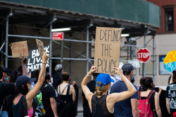 Protesters at a Black Lives Matter protest