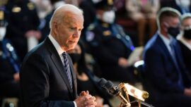 Biden Pays Tribute to Fallen Capitol Officer