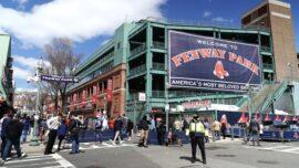 Boston Red Sox Play After Rain Delay