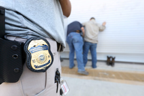 Homeland Security Investigations officers execute a criminal search warrant i