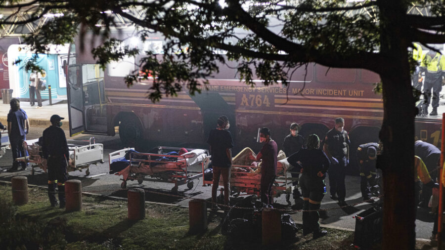 Patients Evacuated As Fire Blazes in Johannesburg Hospital