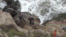 San Francisco Fire Department Performs Ocean Rescue Drill