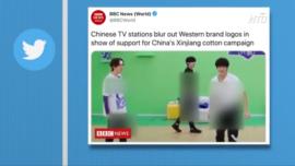 Chinese Media Blur Western Brand Logos on TV