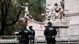 Protesters Desecrate National Monument