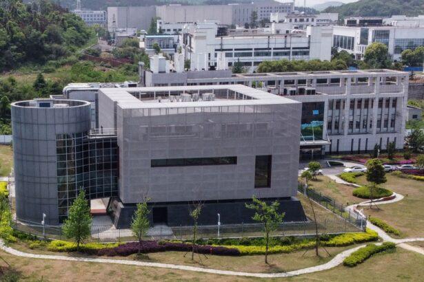 Wuhan P4 laboratory building