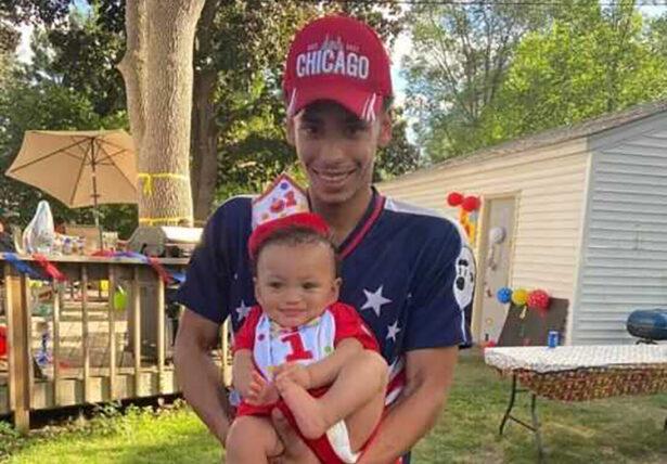 Daunte Wright and his son Daunte Jr.,