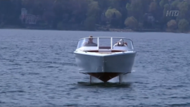 'Flying' Boat Makes Waves in the Alps