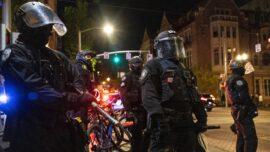 Portland Rioters Smash Windows at Starbucks, Attack Police Officer