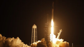 SpaceX Rocketship Launches 4 Astronauts on NASA Mission to Space Station