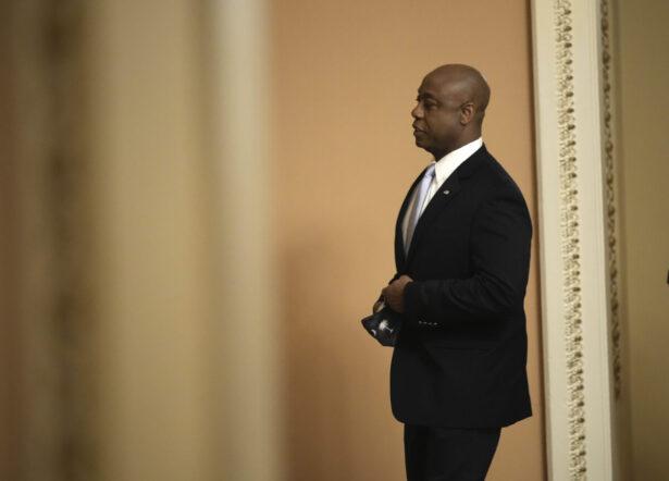 Sen. Tim Scott (R-SC) walks through the U.S. Capitol