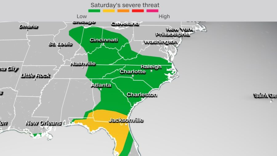Severe Weather Forecast for Parts of Gulf Coast; at Least 2 Dead in Louisiana