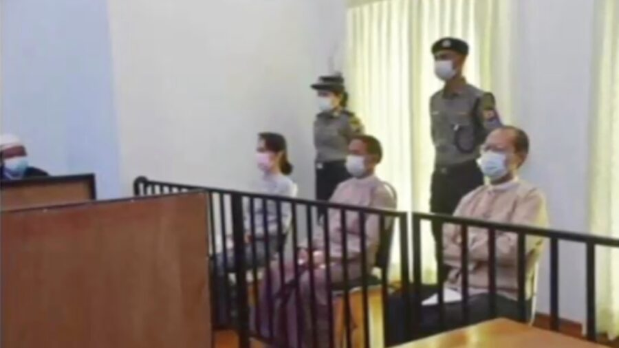Burma's Suu Kyi Makes First In-person Court Appearance Since Coup