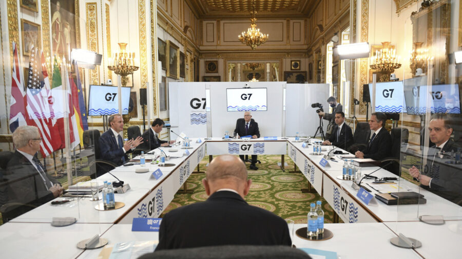 G-7 Foreign Ministers Meet in Person After Pandemic Pause, China High on Agenda