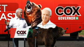 Bear Stunt Steals California Recall Candidate's Show