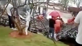 4 Killed by Collapsed Pavilion in China
