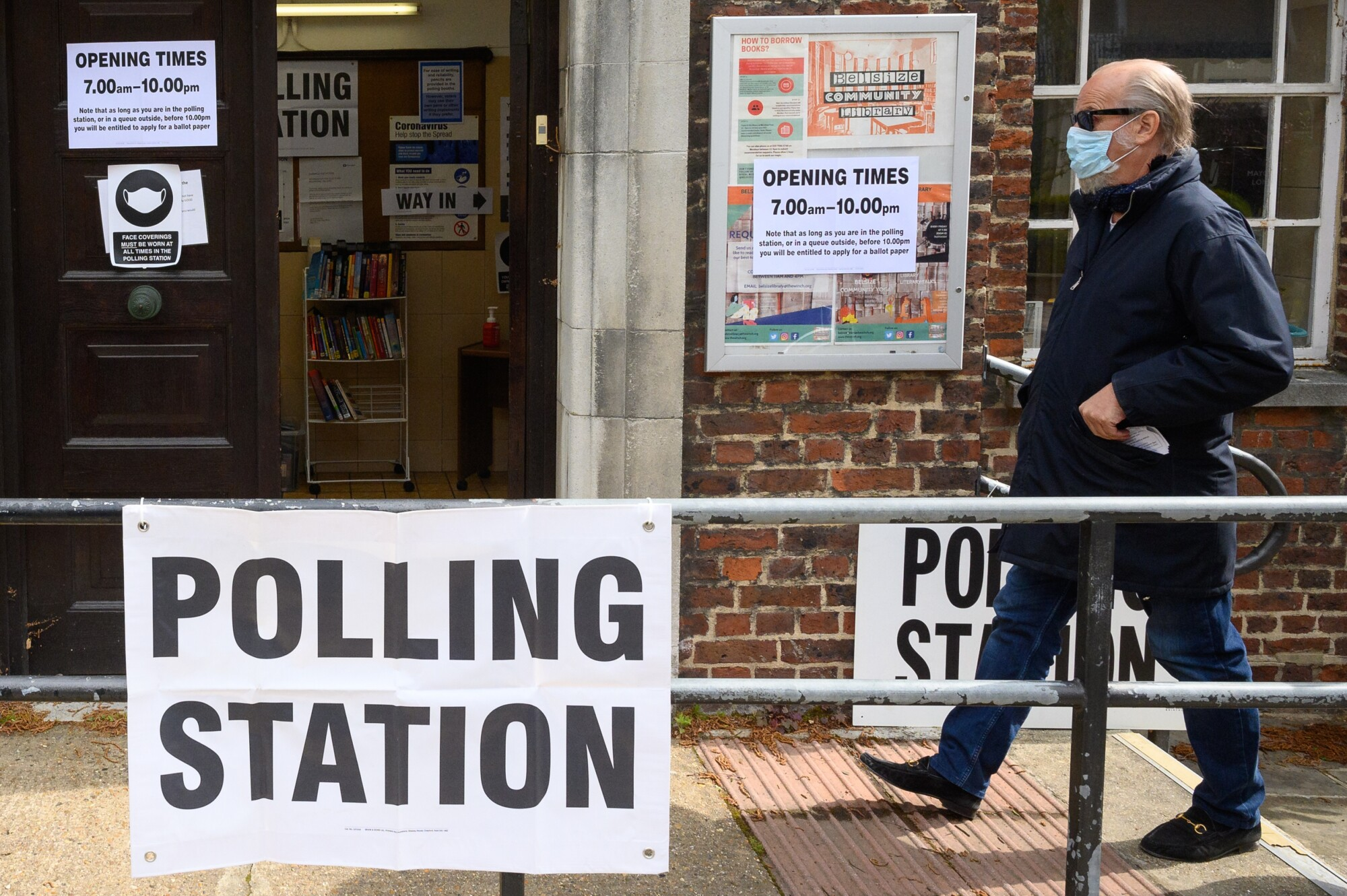 Voters Head to the Polls Across Britain for 2021 Elections