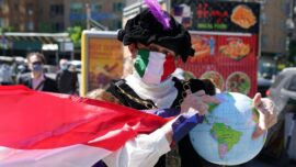 Italian Americans Rally Over Columbus Day