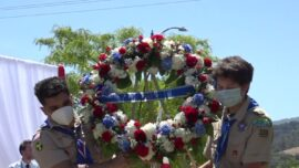 Hundreds Attend Memorial Day Ceremony Onboard USS Hornet in California