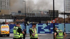 Large Fire Rips Through South London Railway Arch