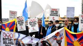 Activists Protest Beijing 2022 Winter Games