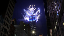 New York Celebrates After Virus Restrictions Lift