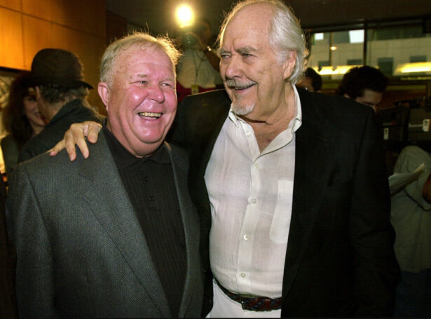 Director-producer Robert Altman, right, laughs with actor Ned Beatty