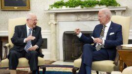 Biden Welcomes Israeli President to White House