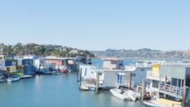 Homes Floating Near San Francisco Bay