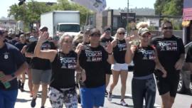California Police Run in Special Olympics Fundraiser