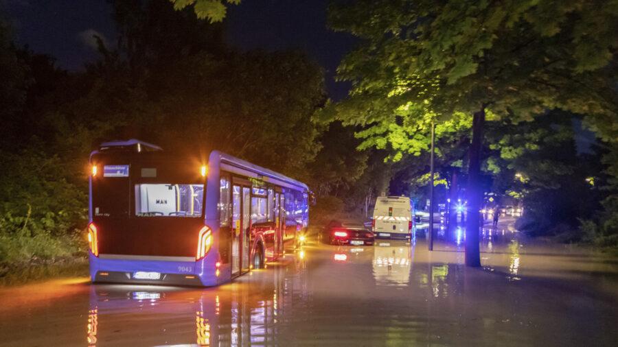 German Vaccine Center Flooded, 5 Injured by Heavy Hail