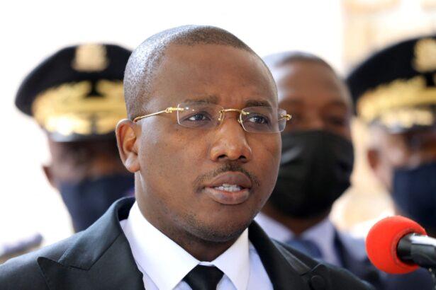 Haitian Interim Prime Minister Claude Joseph speaks