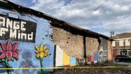 Lightning Strike Destroys George Floyd Mural