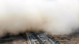 Rare Sandstorm Hits City in Northwest China