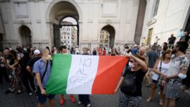 Italians, Greeks Protest COVID-19 Restrictions